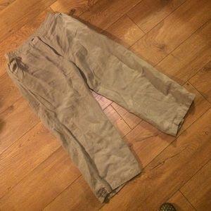 Eileen fisher grey linen pants