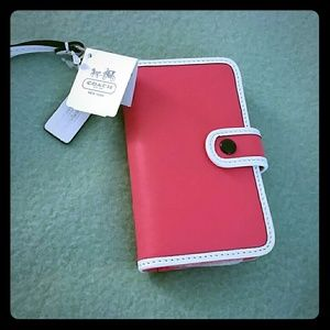 Coach Legacy Two Tone iPhone Wristlet Wallet