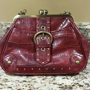 NINE WEST maroon clutch purse!