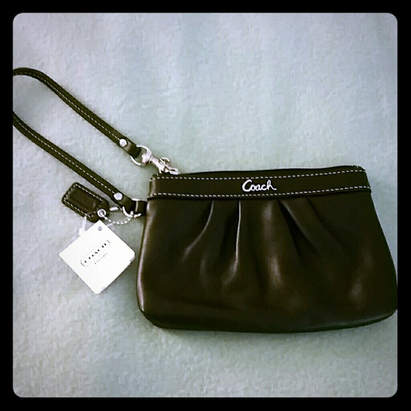 be4cf9e81f ... coupon code for coach black leather wristlet coin key purse 47db7 a4c43