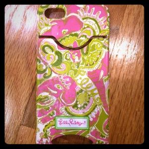 Lily Pulitzer iPhone 5 wallet phone case