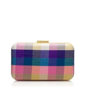 Grape plaid minaudière