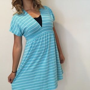 Mossimo Supply Co. Dresses & Skirts - Blue Striped Kimono Dress