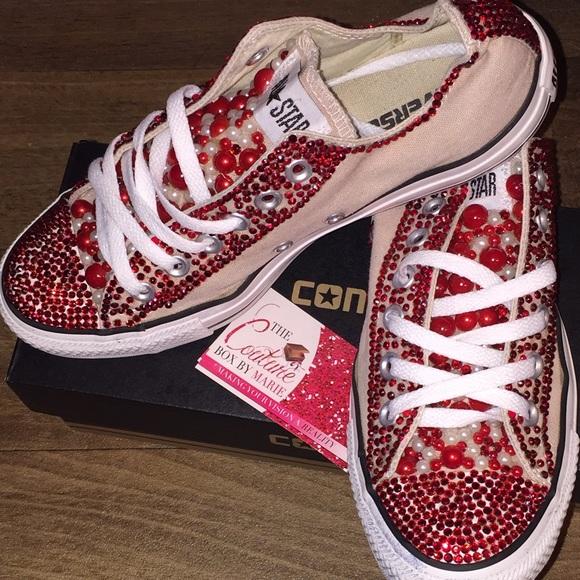 b710b0ec436c Converse Shoes - CUSTOM BLING CONVERSE!