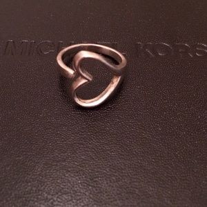 Solid Sterling silver wrap around heart ring