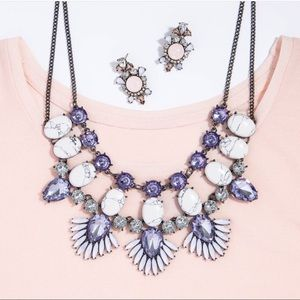 BaubleBar Jewelry - BaubleBar Purple Phoenix Bib Necklace