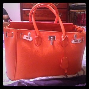 Handbags - Orange statement bag