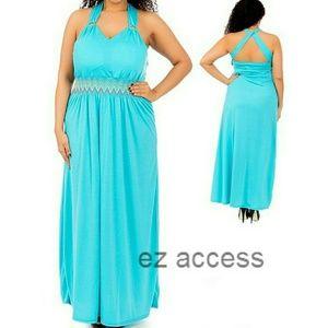 boutique Dresses & Skirts - Plus size dress long maxi padded cross back