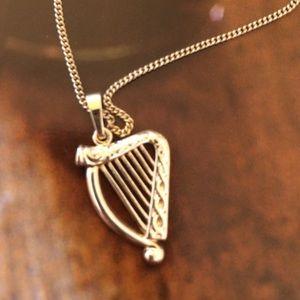 Solvar jewelry gold irish harp pendant necklace poshmark solvar jewelry gold irish harp pendant necklace aloadofball Gallery