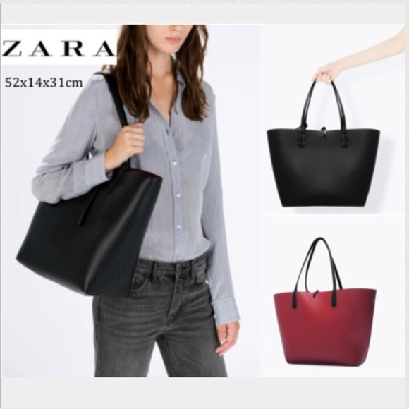 b8baeed9a19f Zara Black and Red Reversible Tote. M 55ef6ef98e1c61c9eb024059