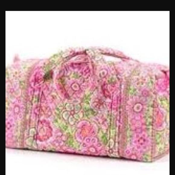 7c863f2048a1 Vera Bradley petal pink duffel bag large. M 55eda72f01985e5c370190f1