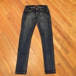 Bubblegum skinny jeans, sz 9/10