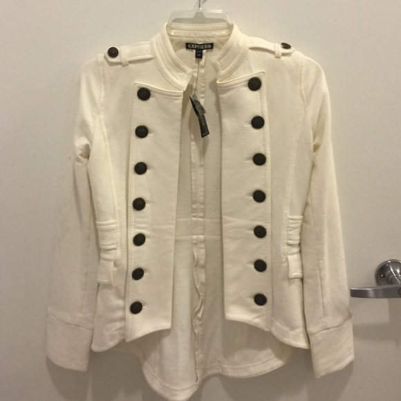 78% off Express Jackets & Blazers - White military jacket from ...