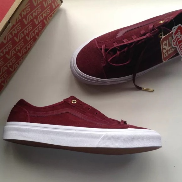 95% off Vans Shoes - SOLD🌲NEW VANS slim 36 low top wine sneakers ...
