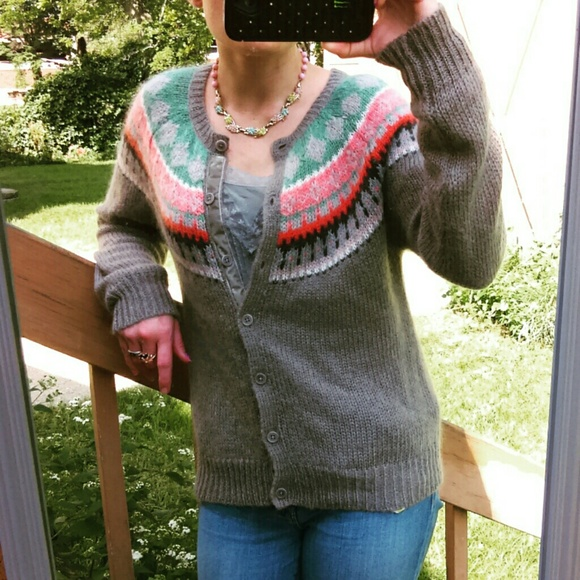 86% off Boden Sweaters - Boden Fair Isle Knit Cardigan Sweater ...