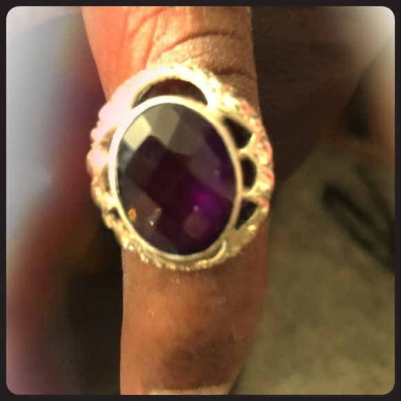 60 jcpenney accessories amethyst silver ring from