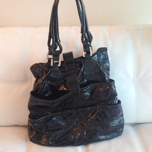 Chloe black patent leather tote