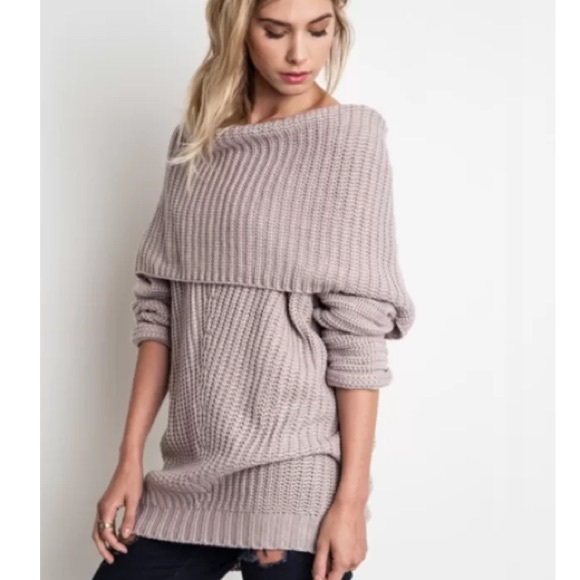 Umgee - Mauve off shoulder sweater - LAST ONE ! from ...