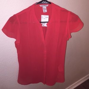 Red H&M shirt, SZ 6 (medium)