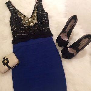 Arden B Dresses & Skirts - Electric Blue Bandage Skirt, size XS