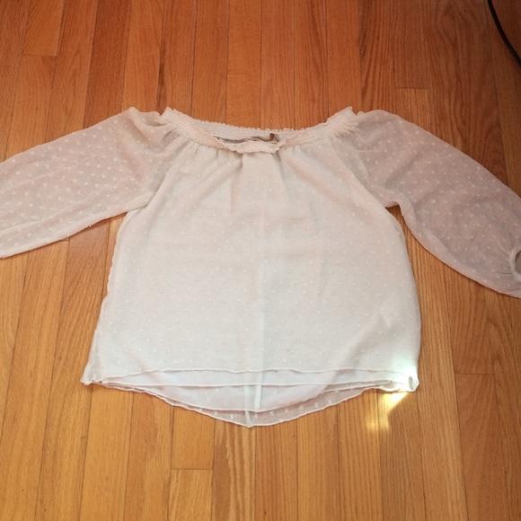Zara Cream Lace Blouse 119