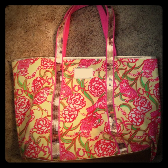 37fae6a29fc025 Lilly Pulitzer Accessories | Lilly Pultizer Chi Omega Sorority Tote ...