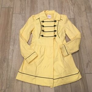 Jackets & Blazers - NWT Adorable yellow trench coat new with tags!