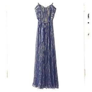 Laundry by Shelli Segal Navy/Gold gown, sz 2