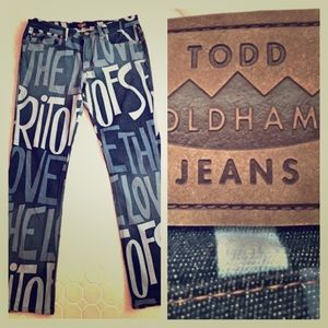 "Todd Oldham Denim - Rare Todd Oldham ""Spirit of Love"" Jeans. Hip Today"