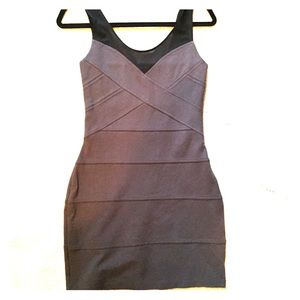 Express Steel Gray Mesh Dress