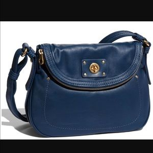 Marc by Marc Jacobs Turnlock Blue Crossbody Bag