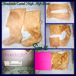 Shoedazzle Boots - Shoedazzle Thigh High Boots in Camel Size 11