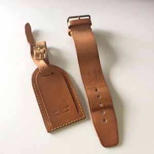 Authentic Louis Vuitton Luggage Tag Set