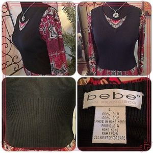 bebe Tops - 30% OFF BUNDLES🙋🏻Bebe Silk Knit Top/Vest🙋🏻