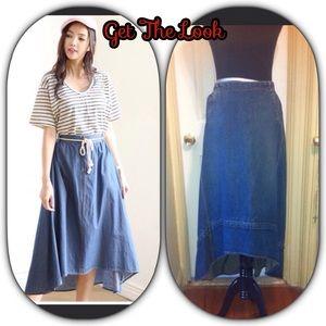 GAP Dresses & Skirts - Vintage Gap Hi-Lo Denim Skirt Sz 4