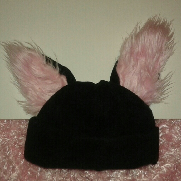 halloween fur ears costume beanie foxbunnywolf