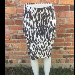 Snow leopard stretch skirt.