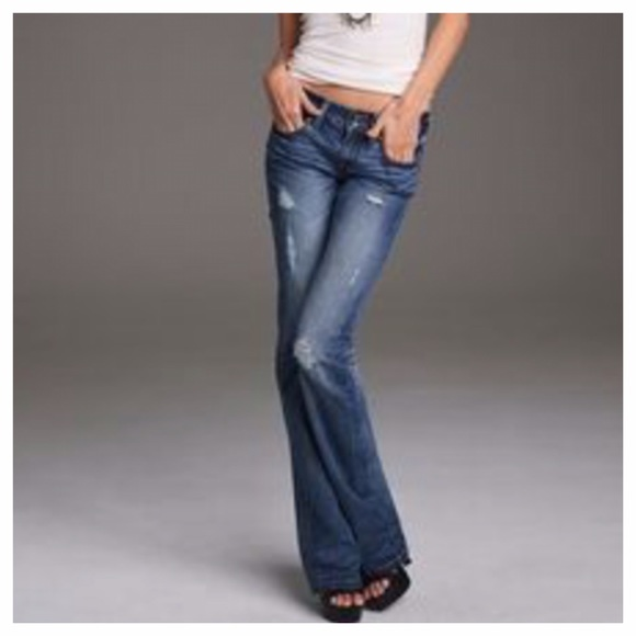 83% off Victoria's Secret Denim - PINK Victoria Secret distressed ...