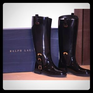 Ralph Lauren Collection Odette  Boots Black size 9