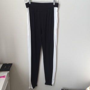 ASOS Pants - ASOS black and white striped joggers with pockets.