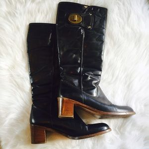 = SALE = Authentic COACH black leather Sara boots