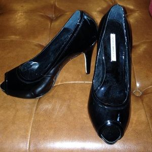Kathryn Amberleigh Shoes - Kathryn Amberleigh peep toe black pumps