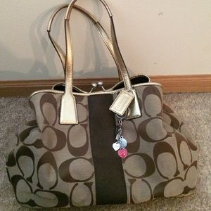 Classic brown Coach handbag