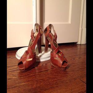 Brown Leather Sandals (Stuart Weitzman)