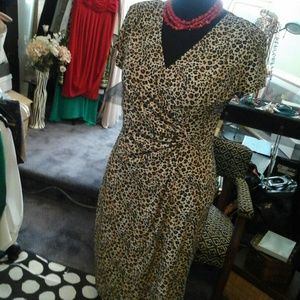 Amanda Lane Dresses & Skirts - Act now in a leopard print dress!