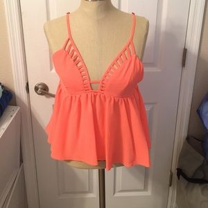 LF coral cutout top 💖 size small