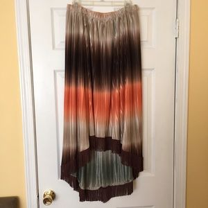 Boston Proper Dresses & Skirts - Gypsy Ombré high-low brown skirt with fringe