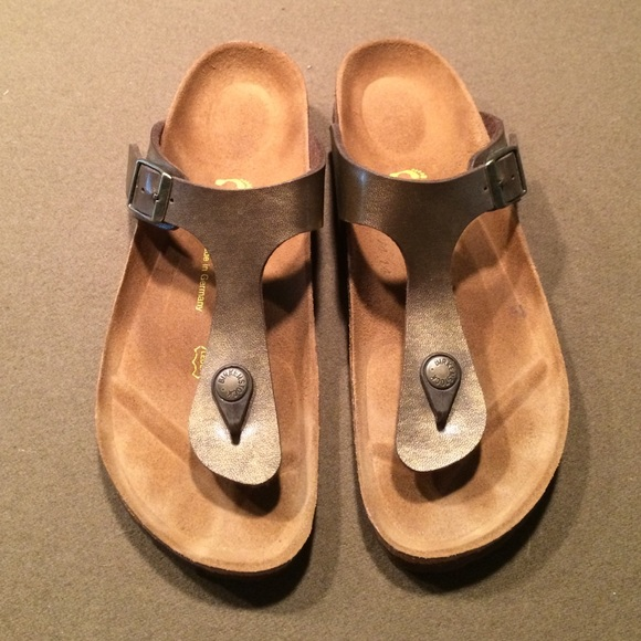 39% Off Birkenstock Shoes - Birkenstock Bronze Gizeh Sandals 38 / 8 Like New From Kathyu0026#39;s Closet ...