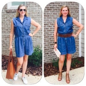 St. John's Bay Pants - Vintage Denim Romper