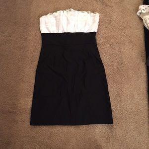 Black and white bodycon dress size M